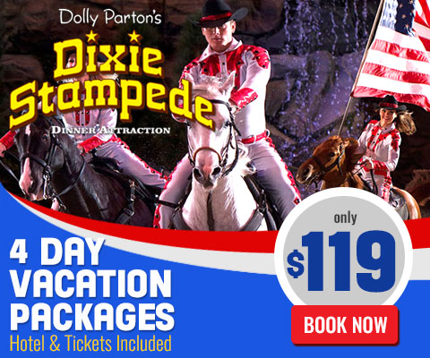 Dixie Stampede 4 Day Stay 2 Tickets