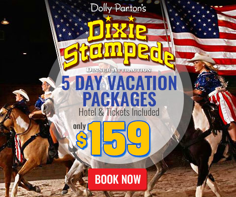 Dixie Stampede 5 Day Stay 2 Tickets